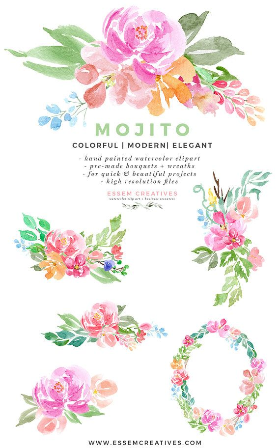 Watercolor Flowers Clipart Welcome Sign Clipart Table Number