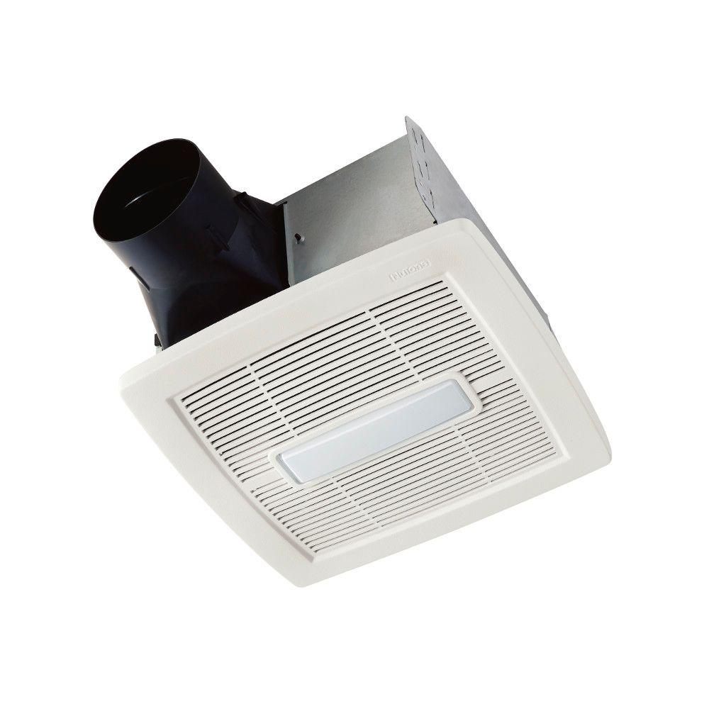 Nutone Invent Series 80 Cfm Ceiling Installation Bathroom Exhaust Fan With Light Energy Star White Bathroom Exhaust Fan Ceiling Installation Fan