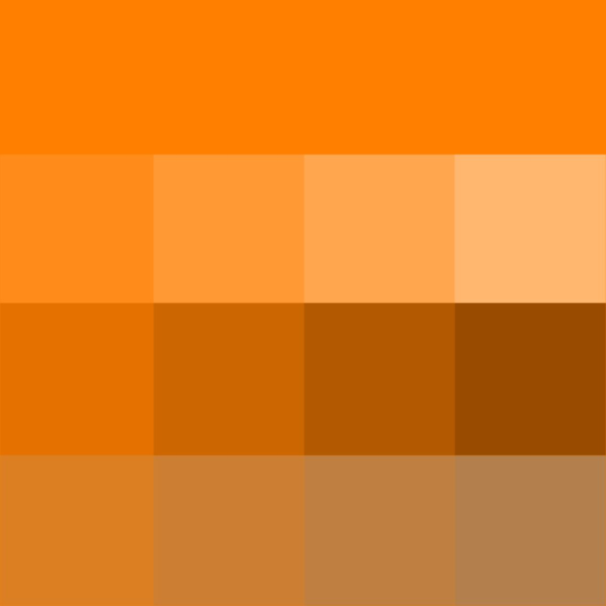 Orange Hue Tints Shades Tones Pure Color With White Black And Grey Which Desaturates The