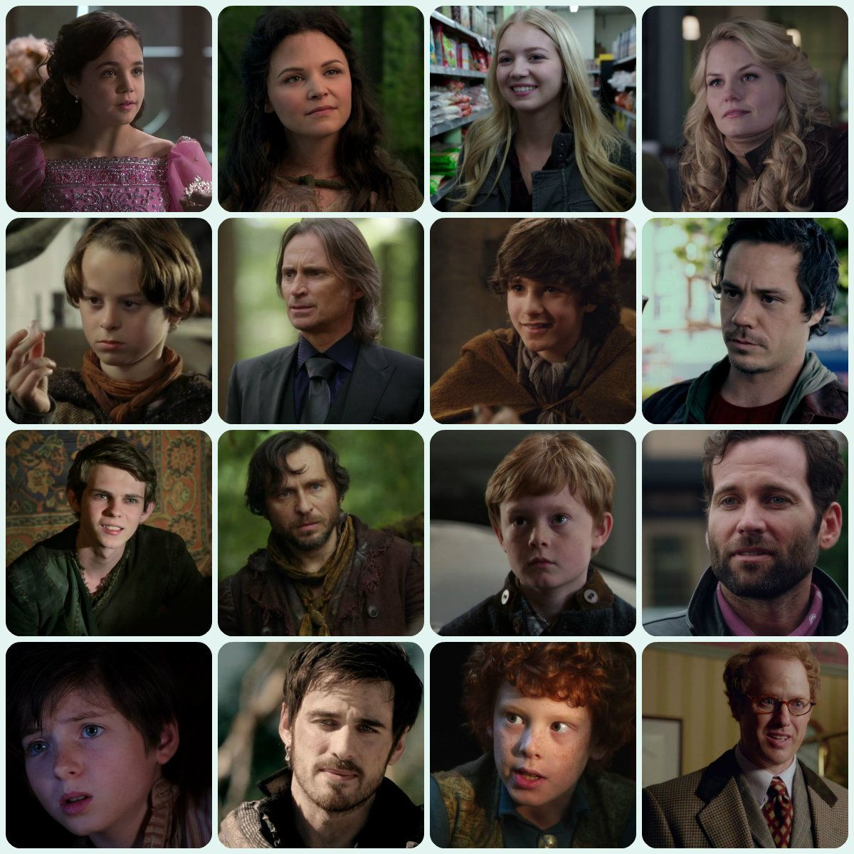 OUAT - Great Cast of younger versions of the characters