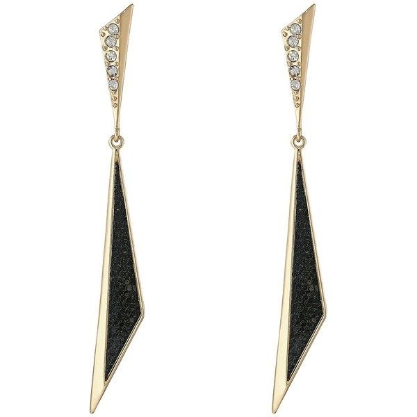Guess Triangular Linear Earrings 22 Liked On Polyvore Featuring Jewelry