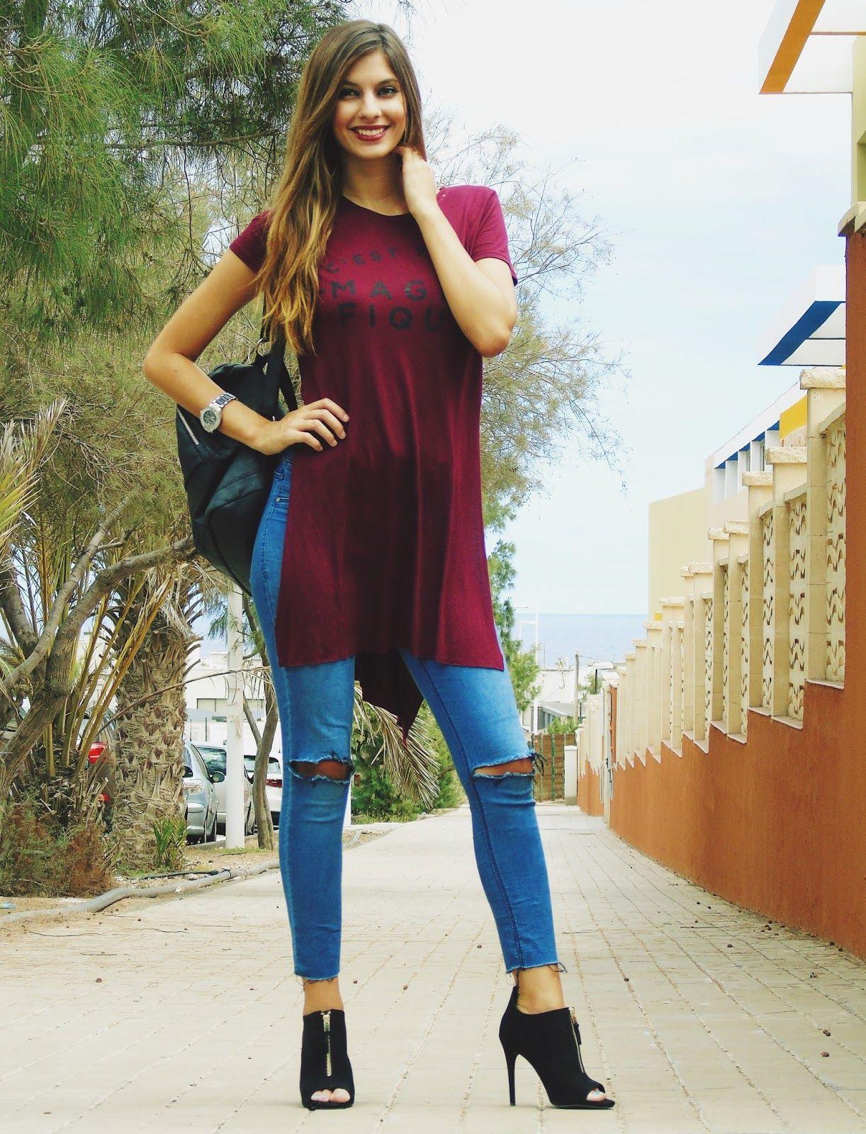 blusas largas outfit