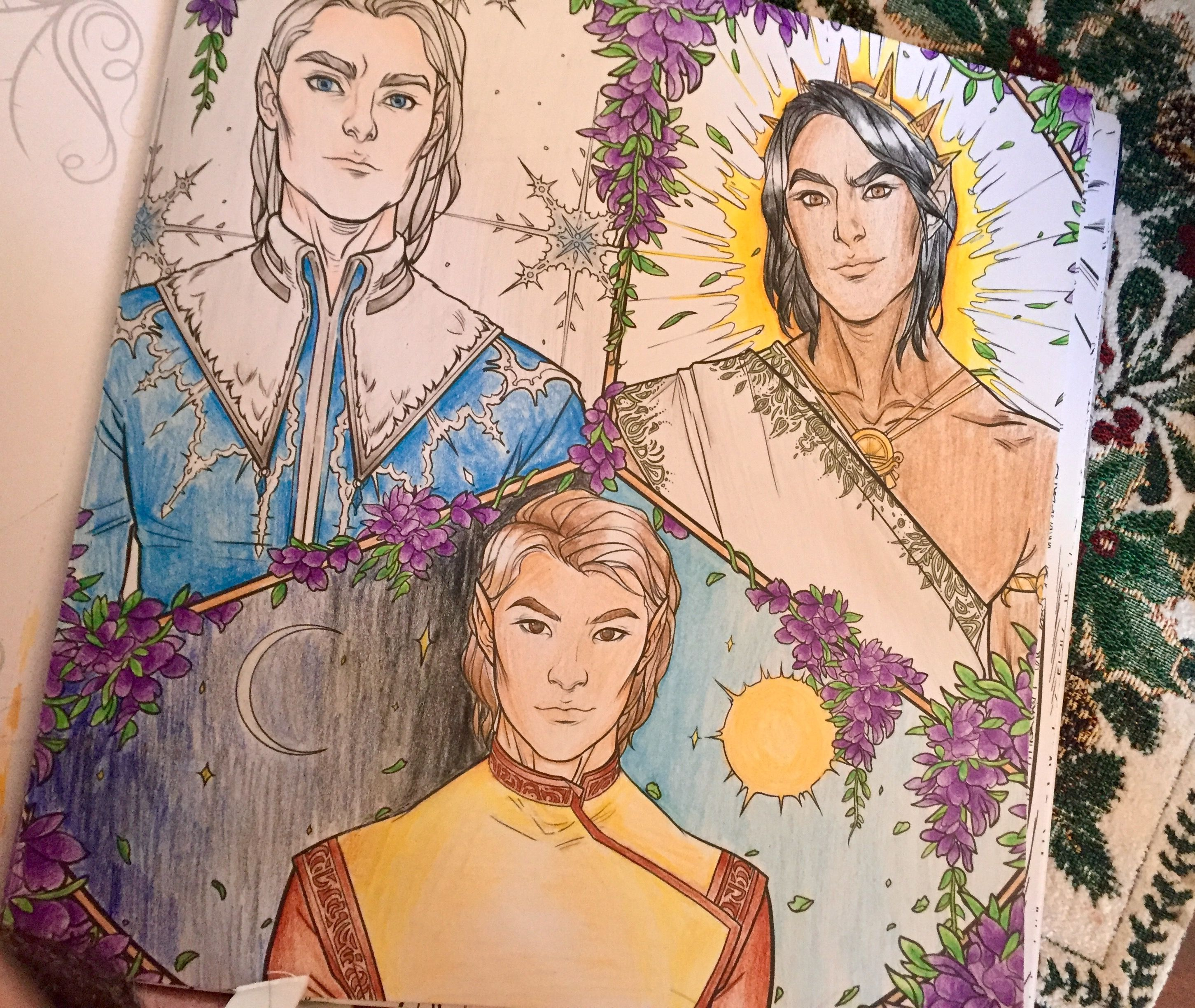 Pin By Icy249 On Throne Of Glass Acotar Coloring Book Art A