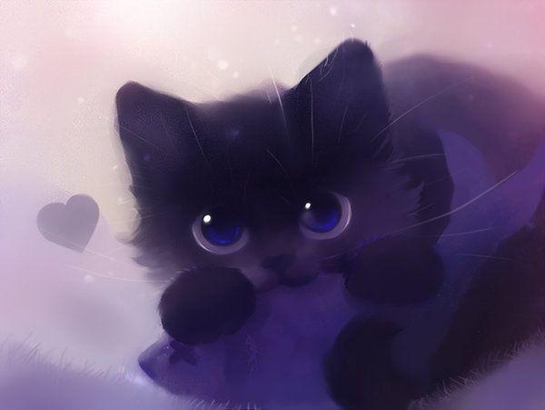 Super Cute Black Cat By Apofiss Apofiss Deviantart Com Cats