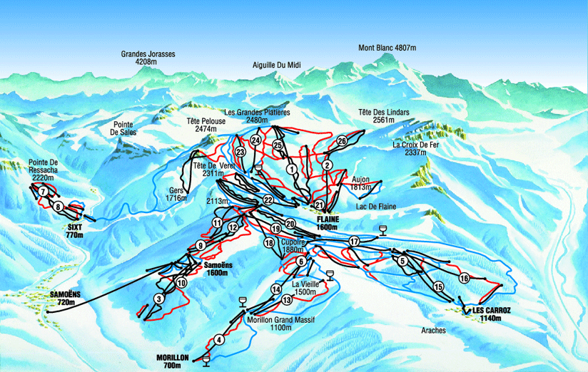 Flaine ski map - Google Search | Flaine | Skiing, Snowboarding ...