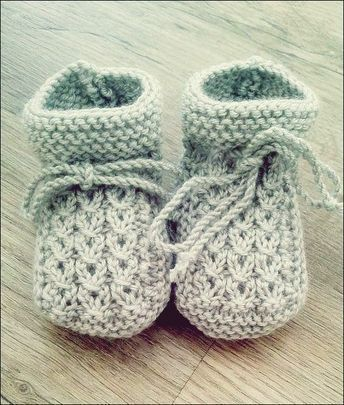 Photo of Strickanleitung Baby Booties #strickanleitungbaby Quelle: Rest Wolle oder …