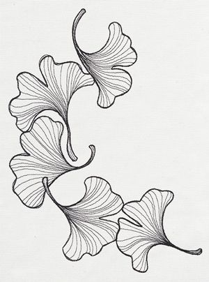 Engraved Ginkgo Design Ut10555 From Urbanthreads Com Japanese