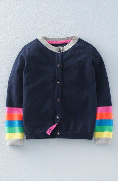 Mini Boden Rainbow Cardigan Toddler Girls Little Girls Big Girls