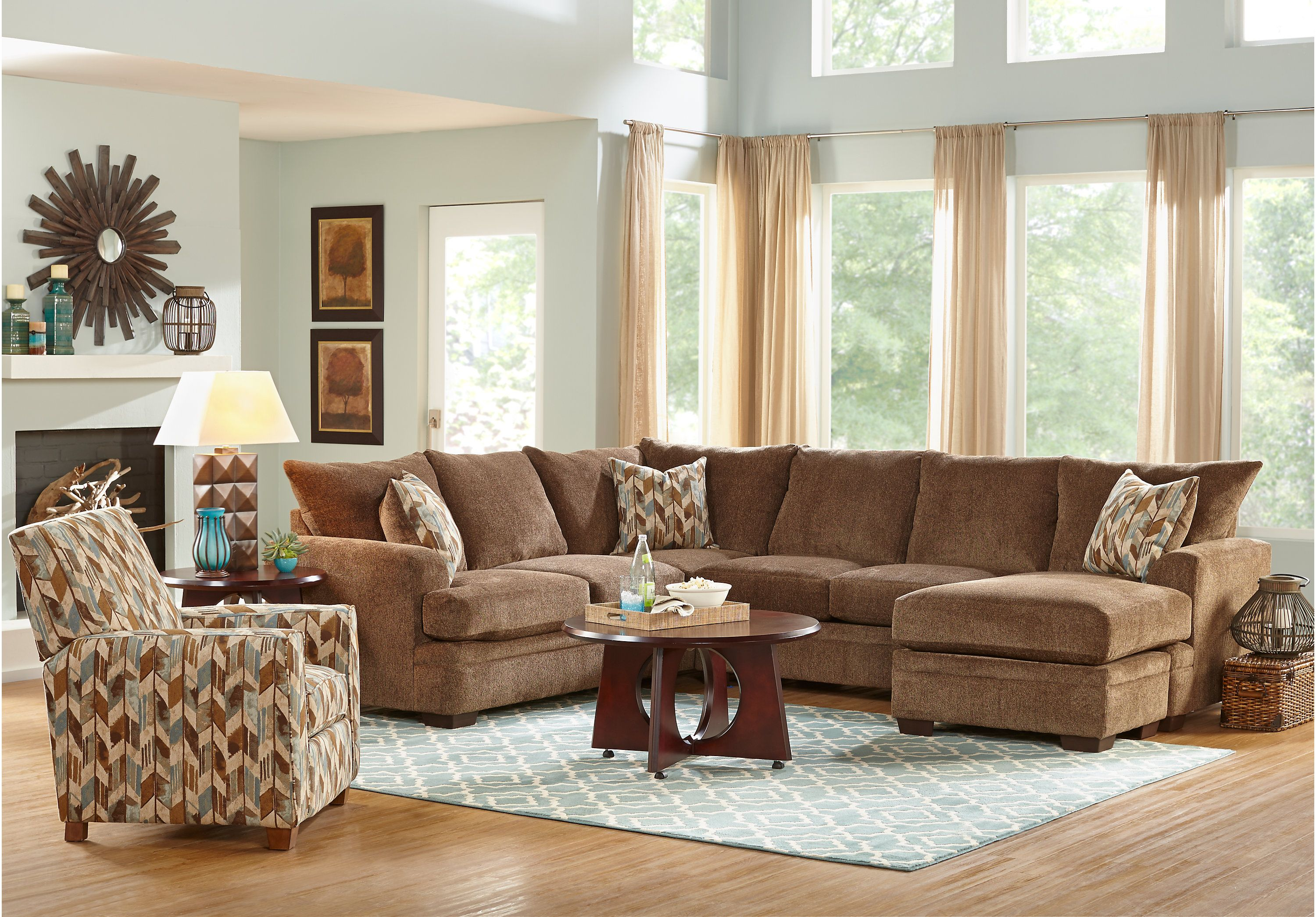picture of Brenton Court Cocoa 5 Pc Sectional Living Room from Living Room Sets…