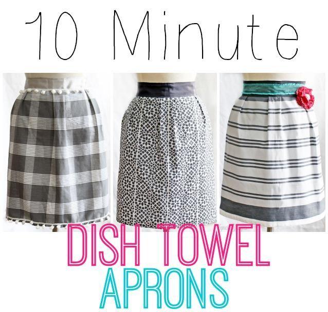10 Minute Dish Towel Apron | Costura, Mujeres jóvenes y Delantales ...