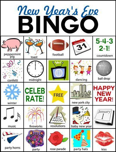New Year S Eve Bingo New Year S Eve Countdown New Year S Eve Activities Kids New Years Eve