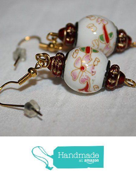Red Flower Ceramic Pandora Bead Earrings from Southern Women Crafts https://www.amazon.com/dp/B01NBDKSFP/ref=hnd_sw_r_pi_dp_yV4oyb481GJFE #handmadeatamazon