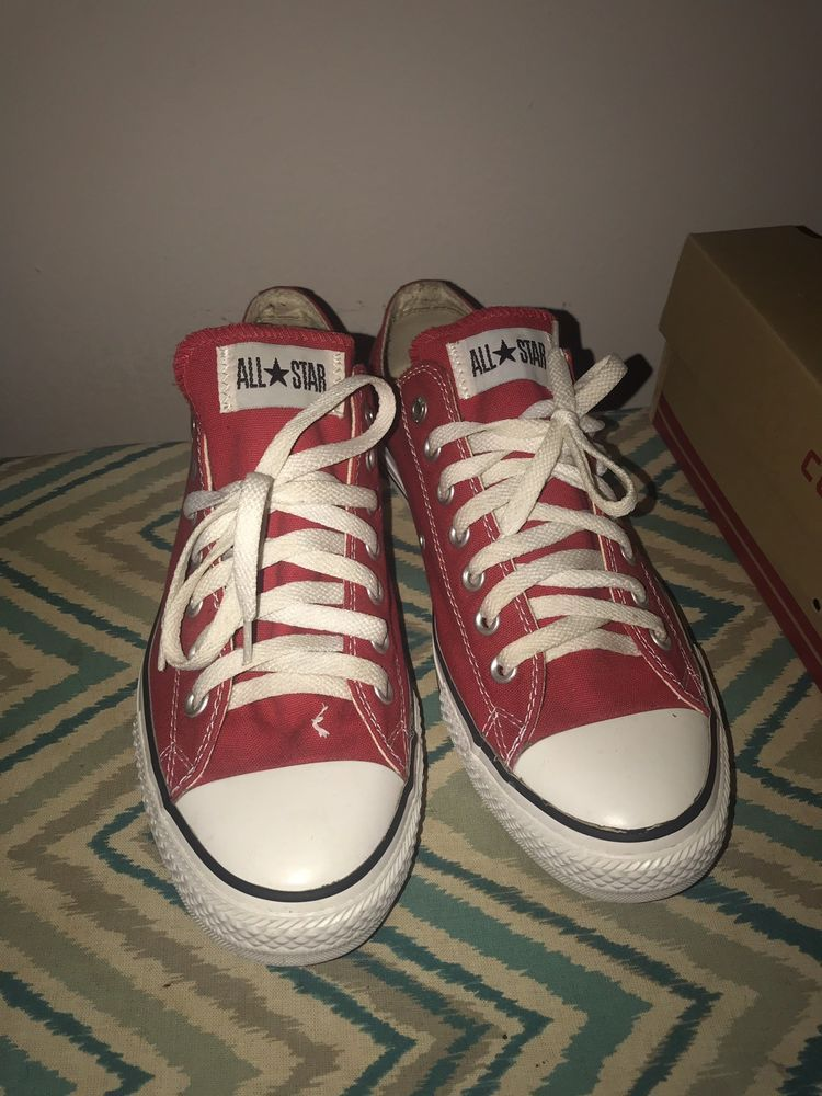 new product 70034 f9635 RED Converse Chuck Taylor All Star UNISEX Low Tops Men 9.5 Women 11.5   fashion  clothing  shoes  accessories  mensshoes  athleticshoes (ebay link)