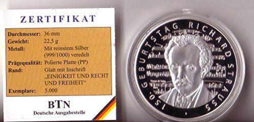 Gedenkprägung Zu Den Deutschen 10 Euro Münzen 150 Geburt Https