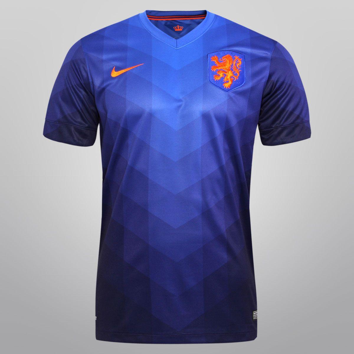 db24a25336 Netshoes - Camisa Nike Seleção Holanda Away 2014 s nº - Torcedor Camisa Nike