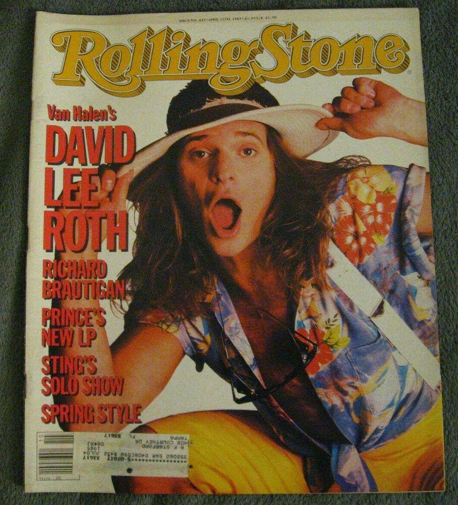 Rolling Stone Magazine April 11 1985 Vintage Van Halen David Lee Roth Prince David Lee Roth Van Halen Rolling Stones Magazine