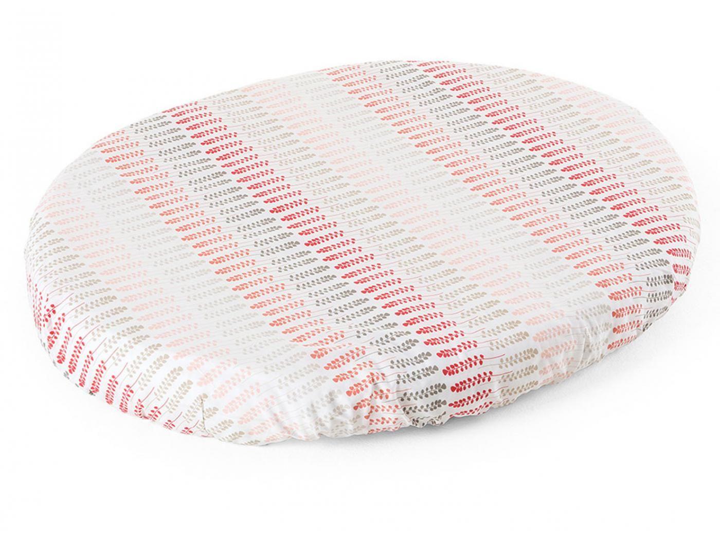 linge de lit stokke Stokke   Sleepi Drap Housse Mini Coral Straw | Linge de lit bébé  linge de lit stokke