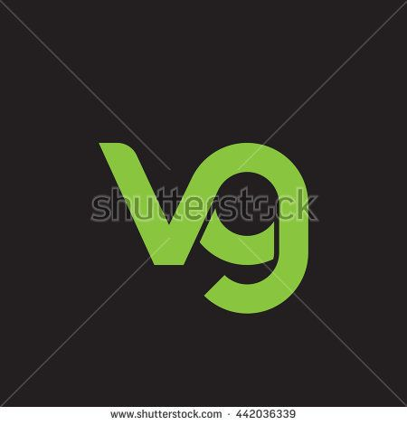 Initial Letter Vg Linked Round Lowercase Logo Green Lettering Initial Letters Letter Logo Design