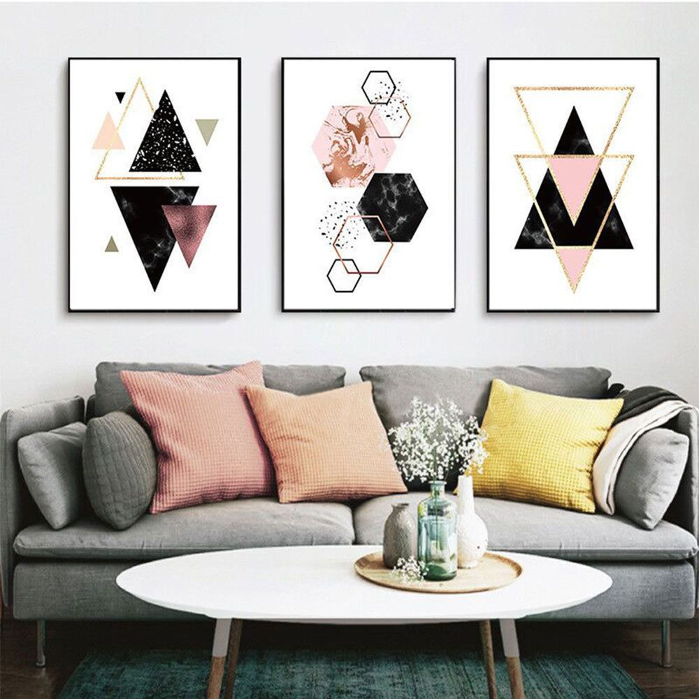 Material Canvas Usage For Sofa Bedroom Living Room Wall Decoration A Variety Of Styles And S Geometric Wall Decor Canvas Art Wall Decor Wall Art Pictures