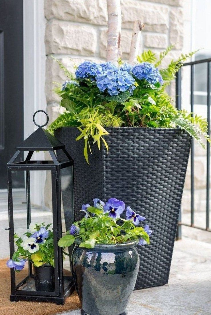 53 Best Spring Front Porch Decorating Ideas Page 39 Of 53 Ciara Decor Homedecor Kitchendecor W Front Porch Flower Pots Porch Flowers Front Porch Flowers