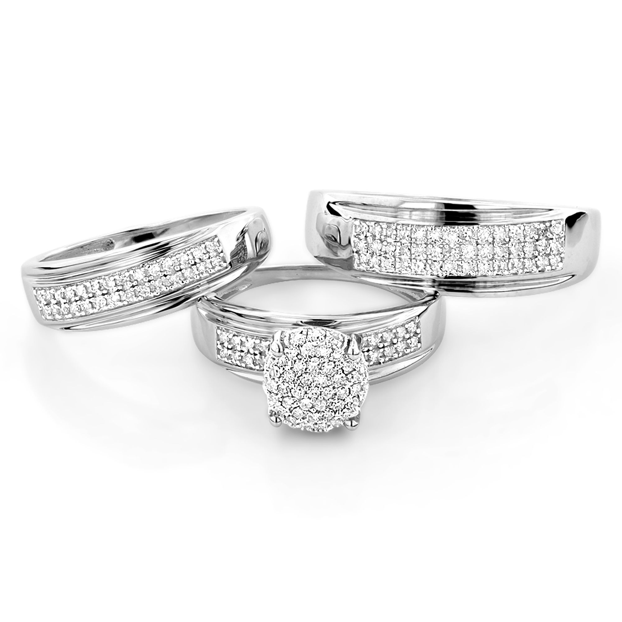 gold-plated-wedding-rings-sets-cheap-white-color-silver-sparkle ...
