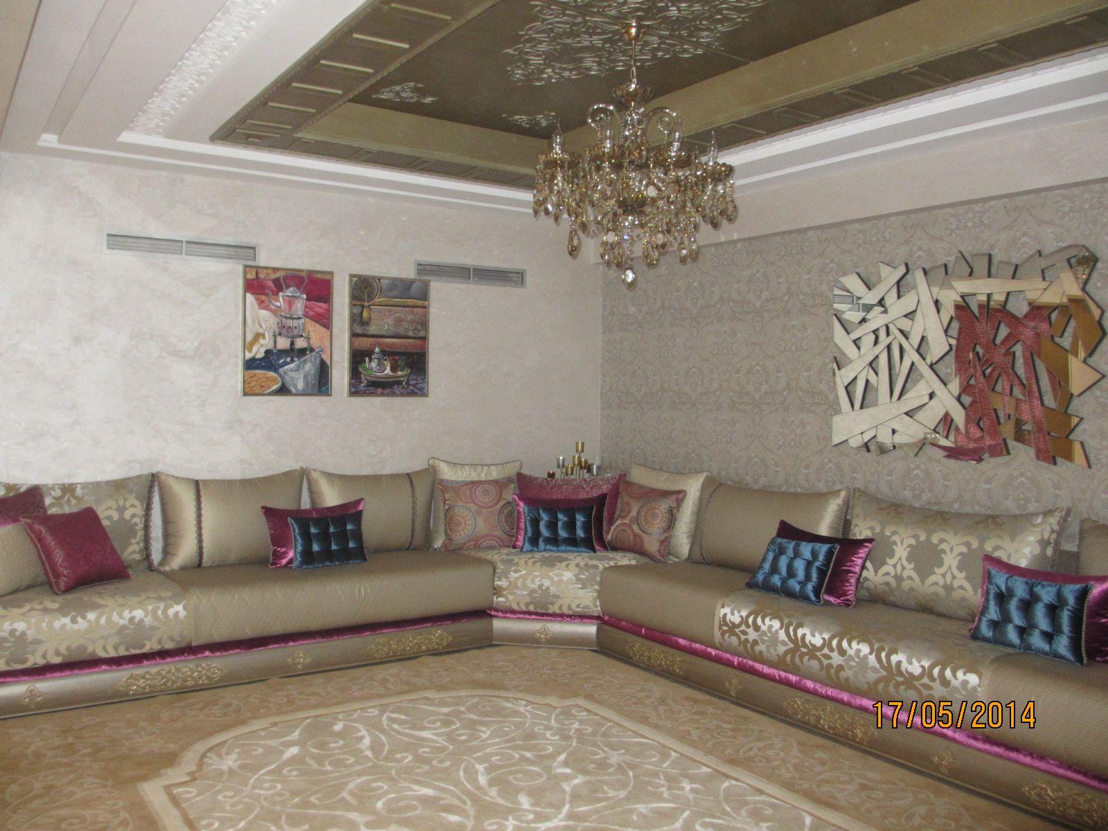 Salon Marocain | Architecture d\'intérieur | Salon classique, Salon ...