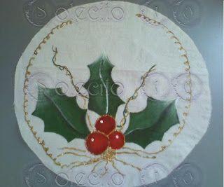 Pintura en tela a mano manteles e individuales pintados a - Motivos navidenos para pintar en tela ...