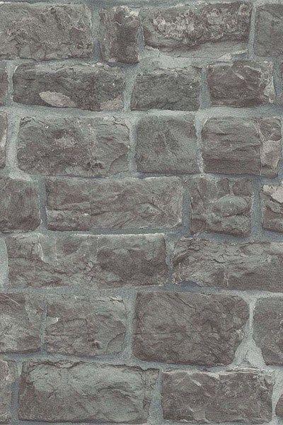 Grey Tumbled Brick Wallpaper In 2019 Faux Brick