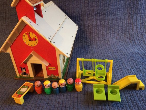 Vintage Fisher Price Play Family School with by LadyVintage81