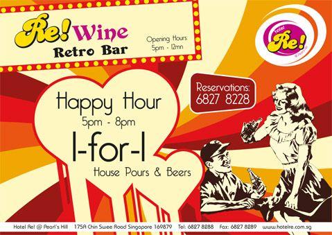 Hotel Re! Retro Bar   1-for-1 Hot deals!!