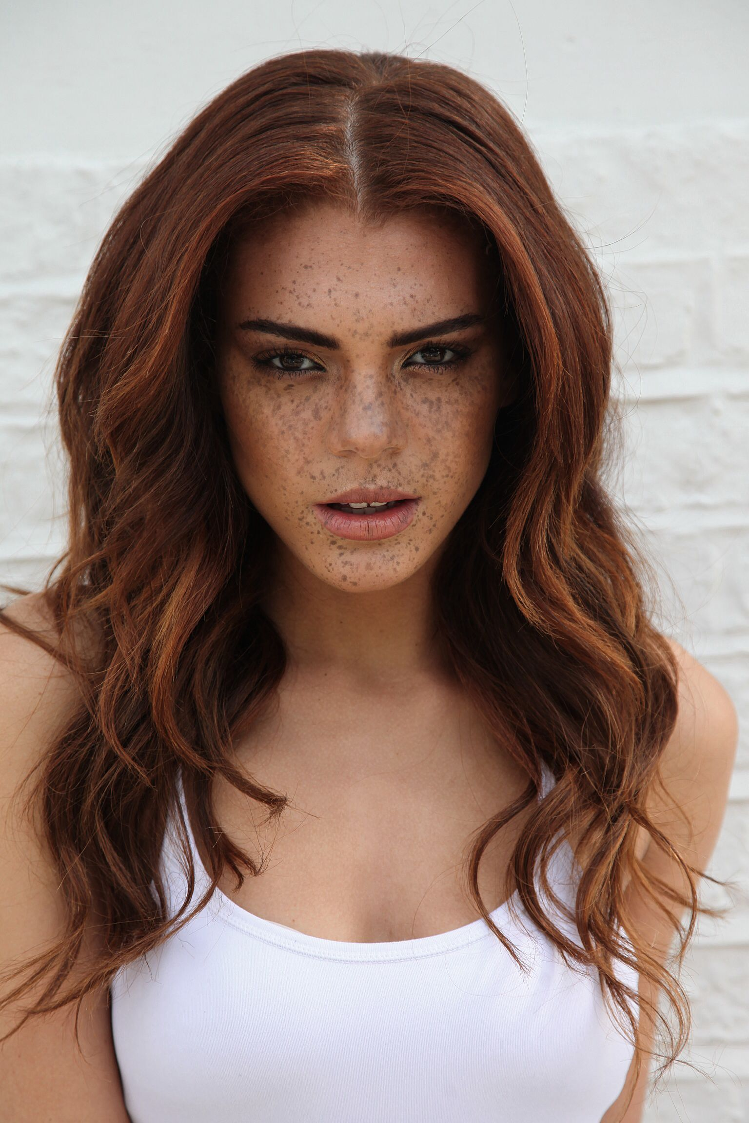 Interesting Facial Comboburnbrown Hair And Freckles With Dark