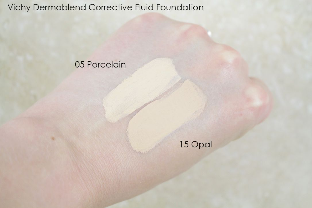 Vichy Dermablend Fluid Corrective Foundation In New Shade 05 Porcelain Dermablend Vichy Fluid