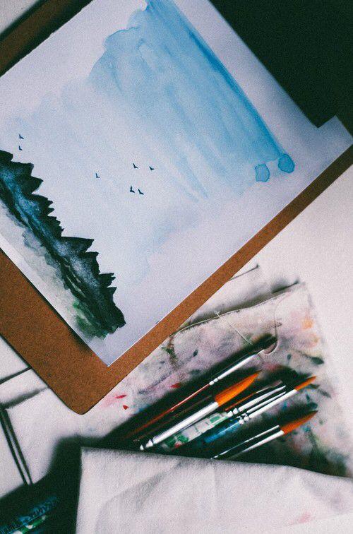 Original Lighthouse 1 Watercolor Painting Artwork On Aquarelle