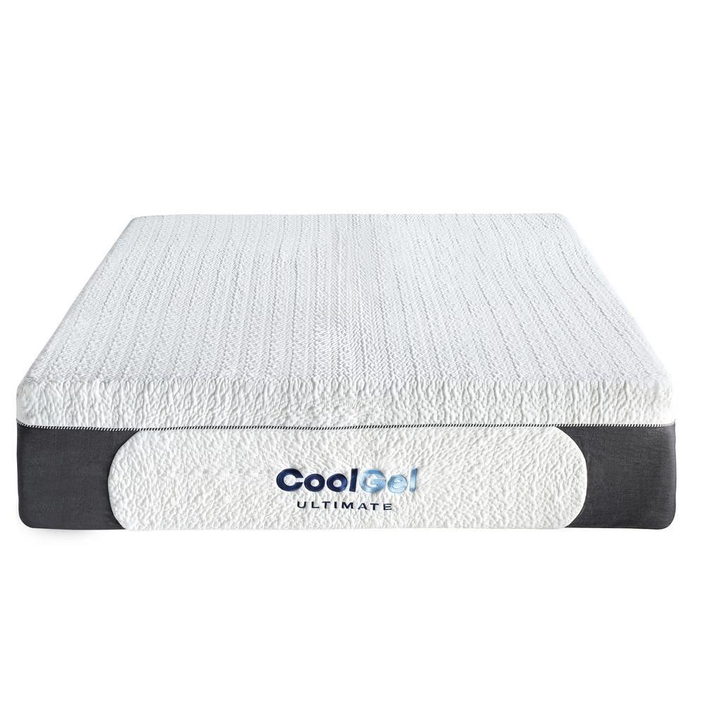 Cool Gel Ultimate King Size 14 In Gel Memory Foam Mattress 410167