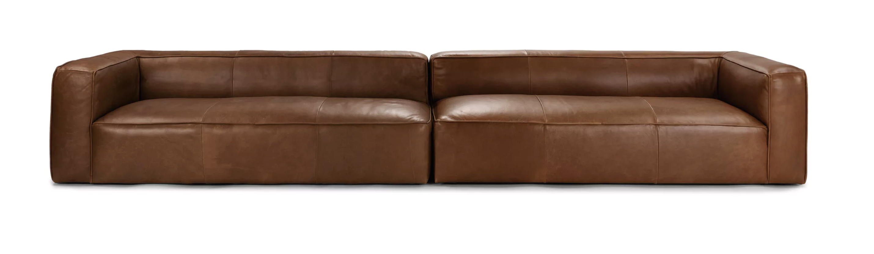 Best Mello Taos Brown 160 Sofa Long Couch Mid Century 640 x 480