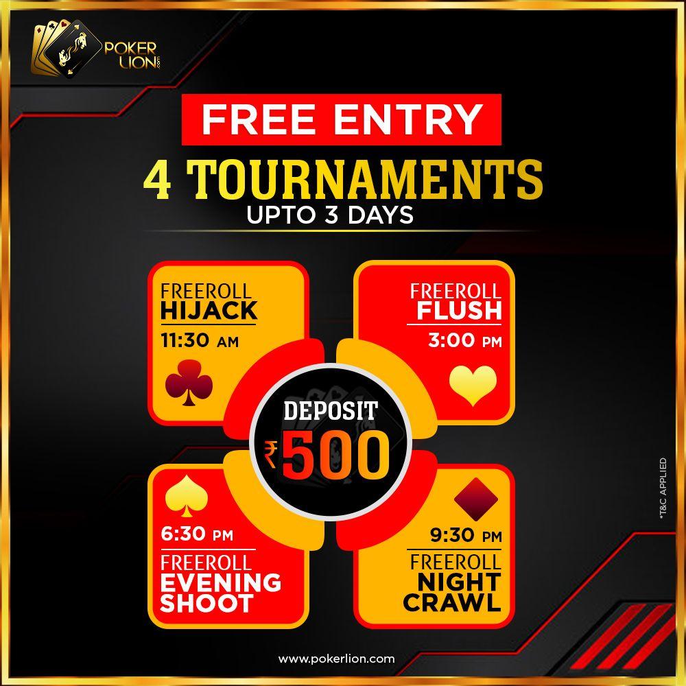 FREE ENTRY ! Poker, Money games, Online poker