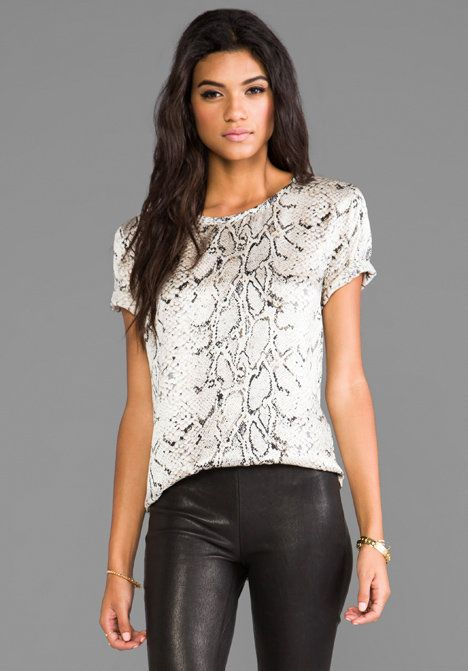 b73129f6d8d1c Equipment Riley Printed Blouse in Fawn Python from REVOLVEclothing.com on  Wanelo