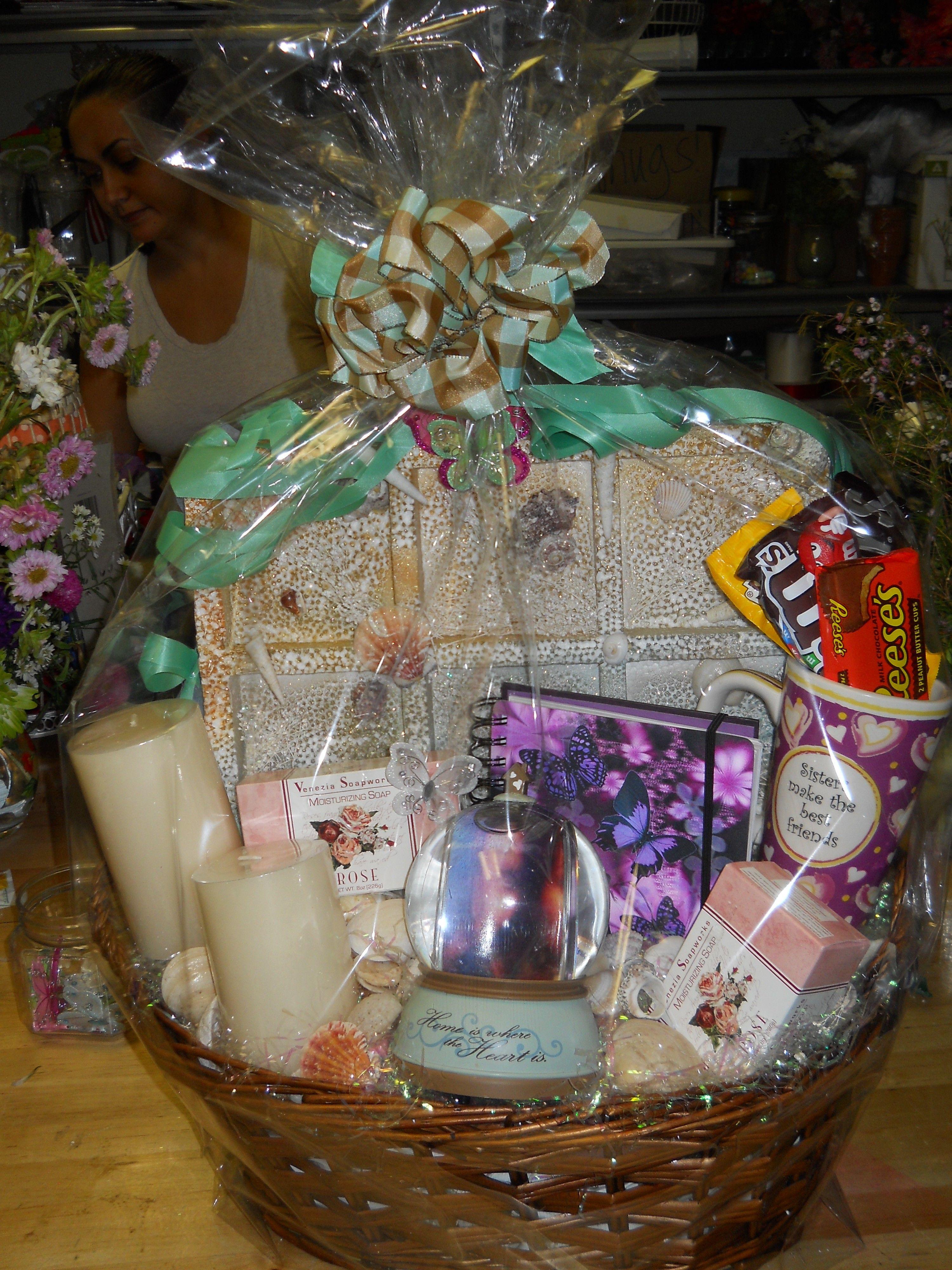 Gift basket for sister i made gifts gift baskets decor