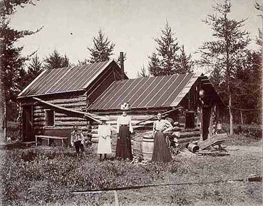 First Log Cabin In Cass Lake Mn Photograph Collection