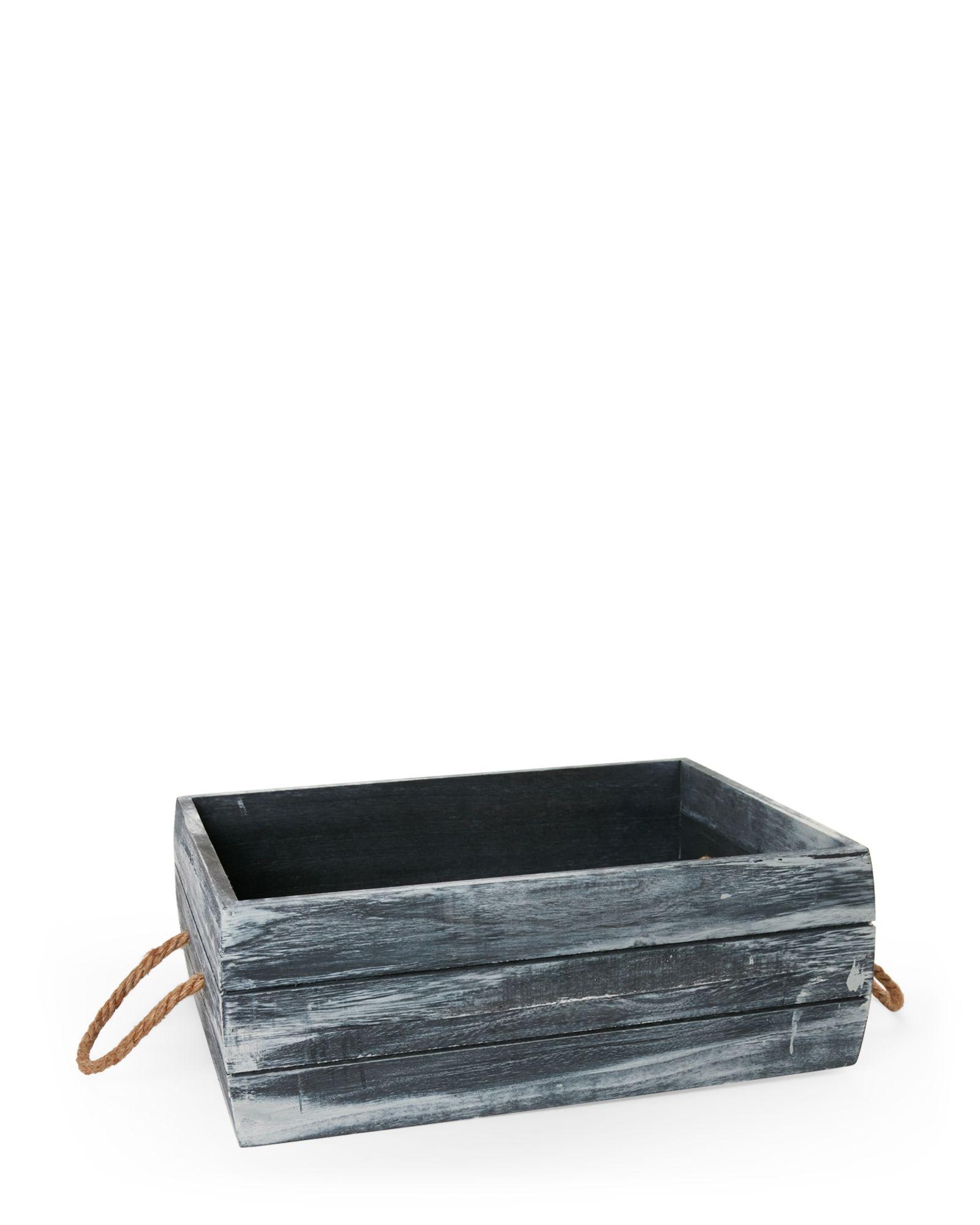Storage Bin Medium Shallow Grey Crate