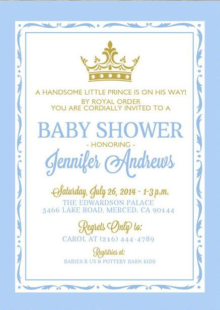 Little Prince Baby Shower Invitations 7