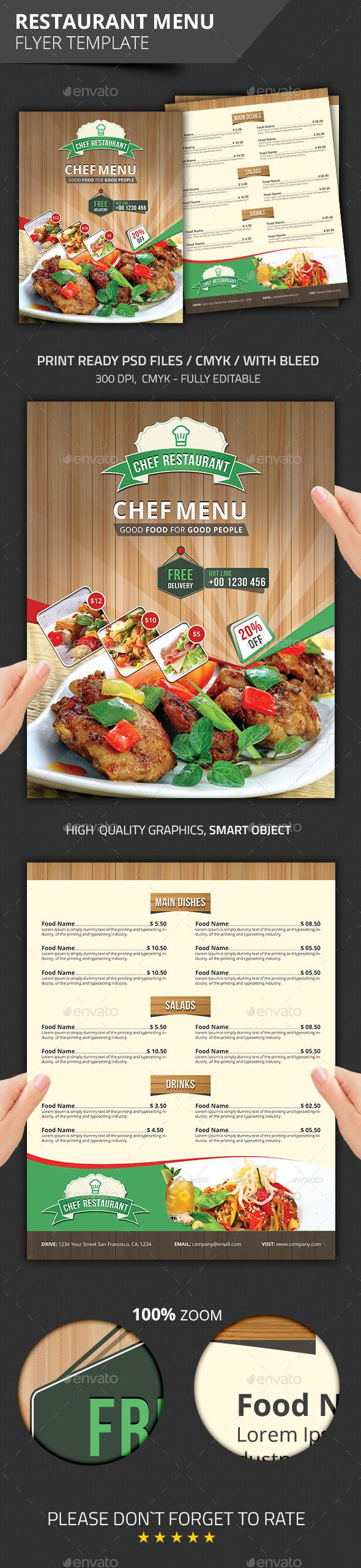 pin by designshub on best flyer templates pinterest menu