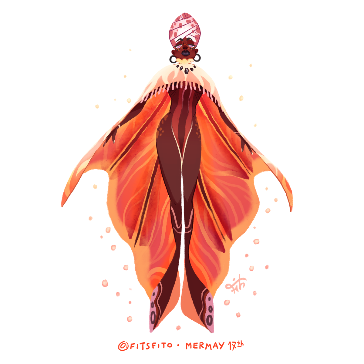 MerMay Day 17 - Sea of fire