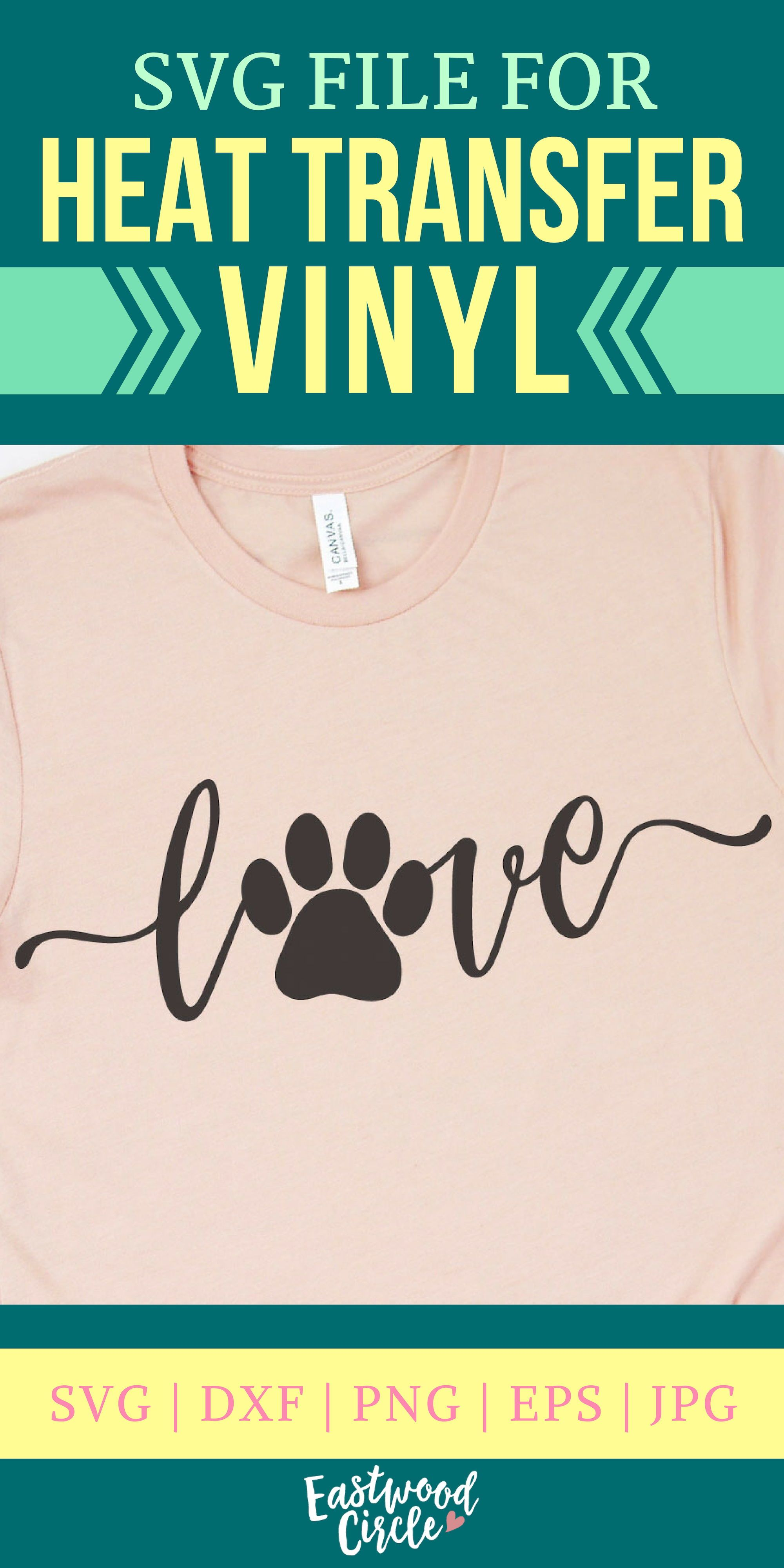 Love with Pawprint svg, Love with a Paw Print svg, Dog Mom