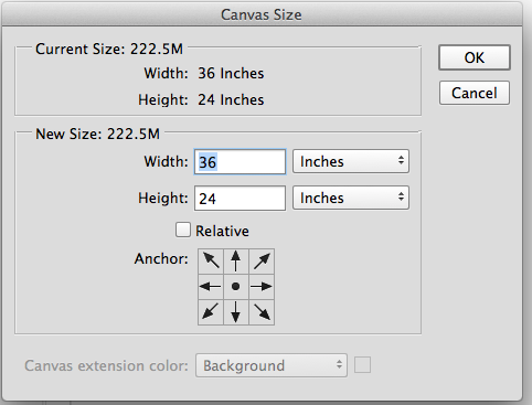 how to resize canvas in photoshop