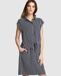 0fc14165f8 Vestido camisero de mujer Zendra El Corte Inglés con estampado de rayas