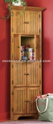 Kitchen Design Solid Wood Corner Pantry Cabinet   Kitchen ...