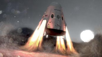 * SpaceX's Red Dragon capsule touches down on Mars, February 2018...