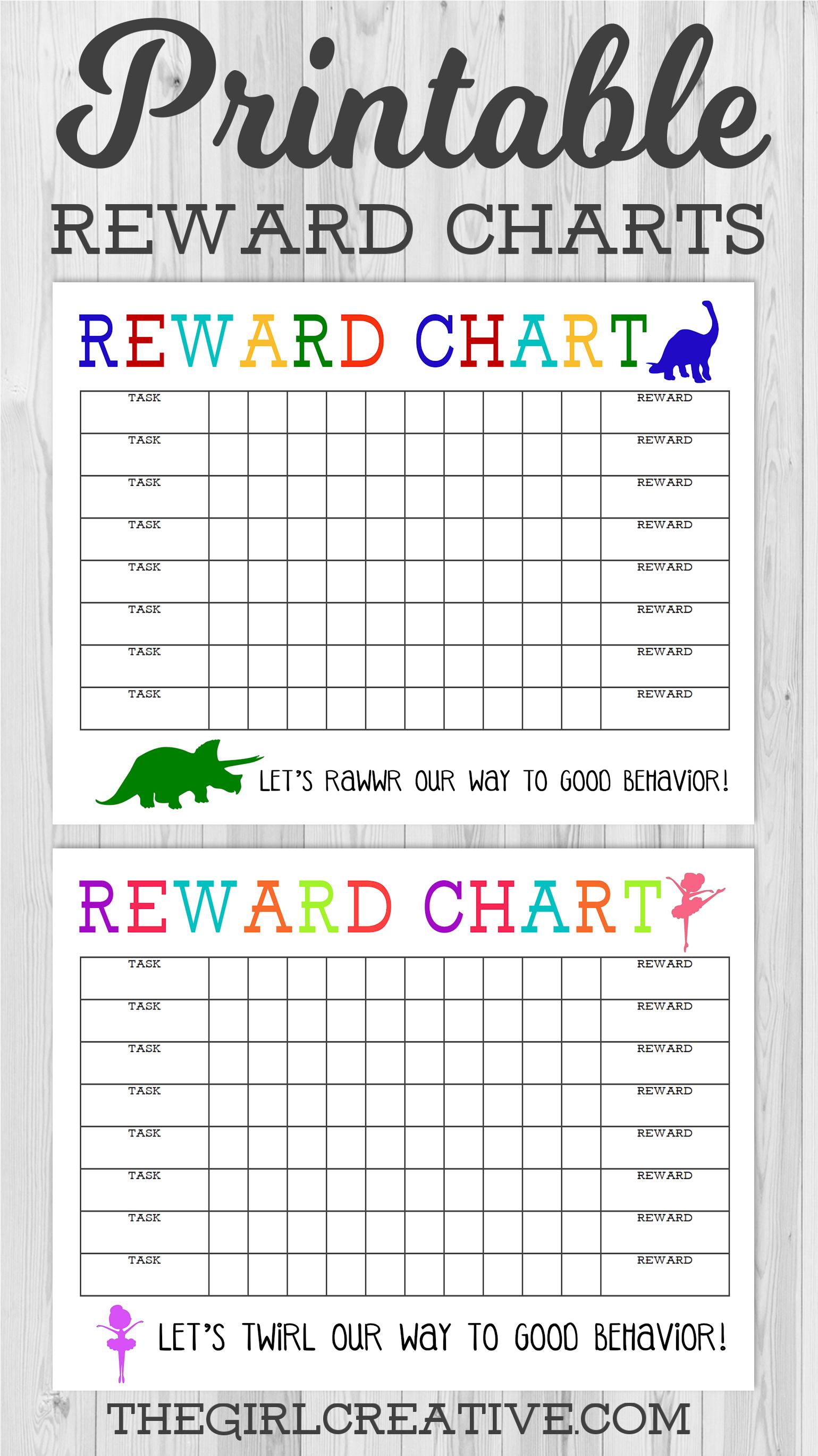 Printable Reward Chart  Printable Reward Charts Free Printable