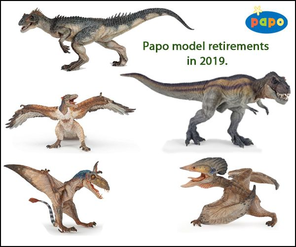 Papo prehistoric animal model retirements in 2019. #prehistoricanimals